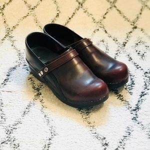 Danish leather clogs